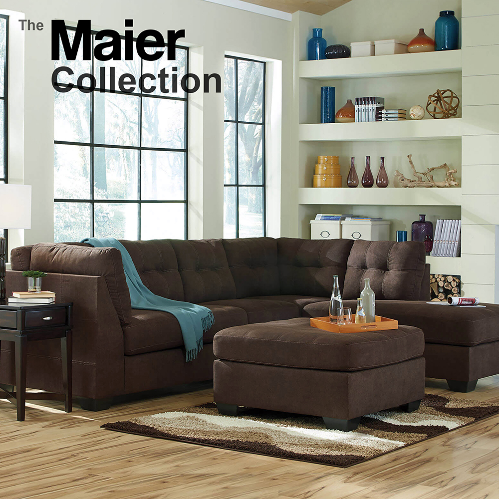 Ashley Maier Chocolate  Sectional