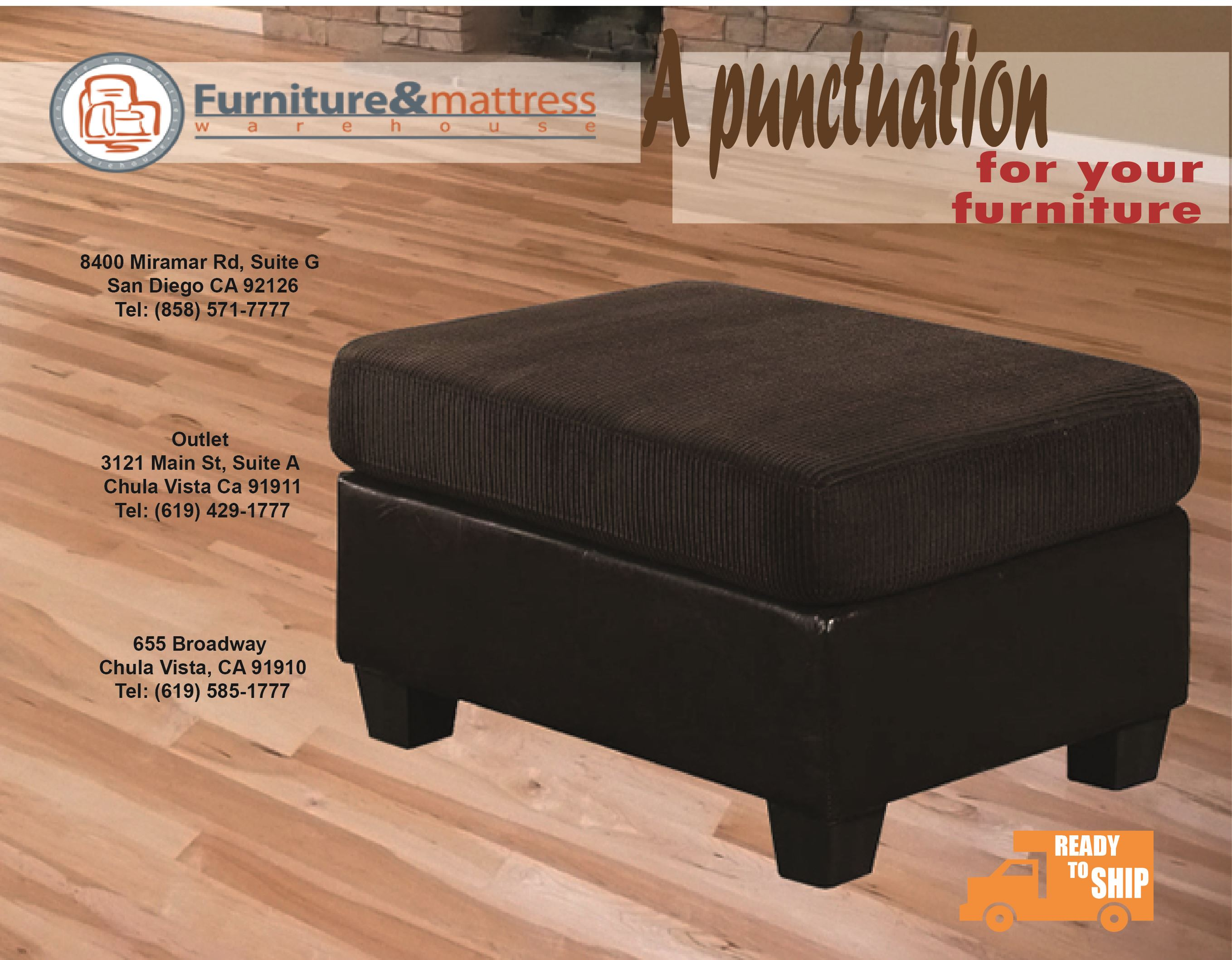 Connell Contemporary Chocolate Ottoman