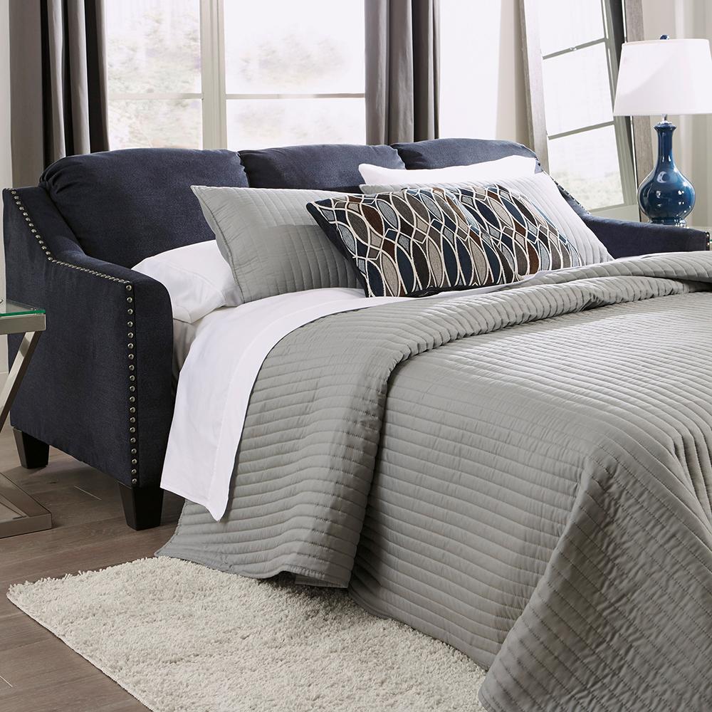 BC80239 Navy Blue Queen Memory Foam Sofa Bed