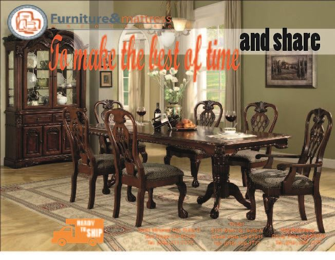 Brussels 7pc Dining Set With Leaf