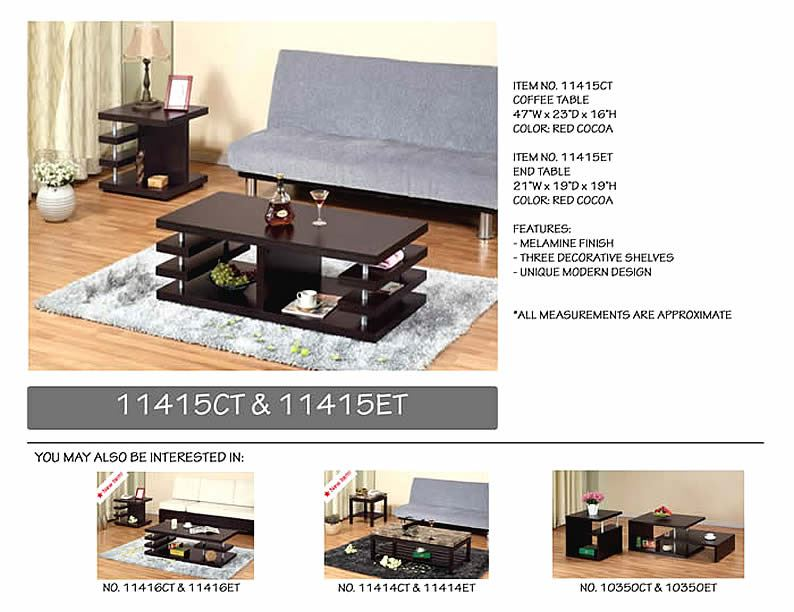 Klubbo 2pc Set Coffee and End Modern