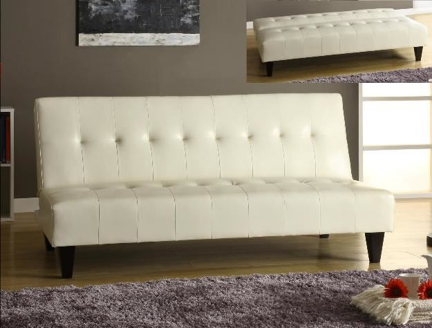 Conrad Sofa Futon Bicast White