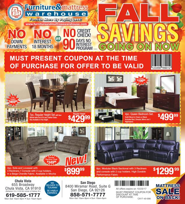 Fall Savings Special 1