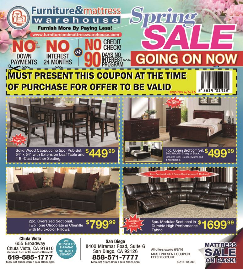 Spring Sale MUST PRESENT COUPON AT TIME OF SALE