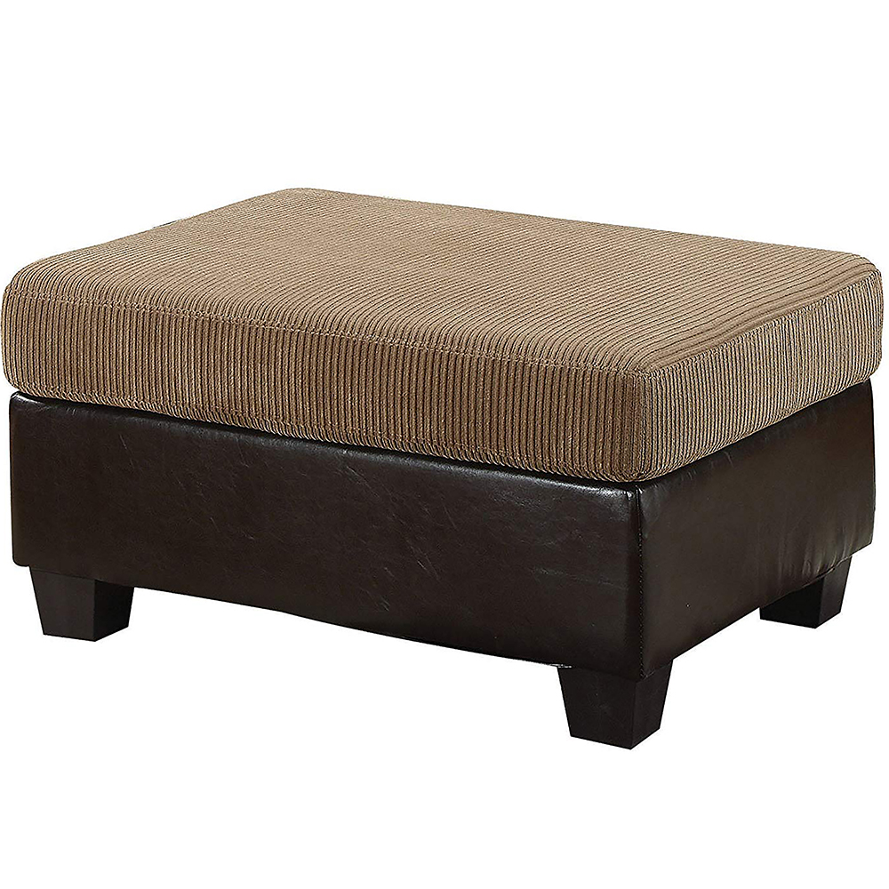 ACF55947 Connell Contemporary Light Brown Ottoman