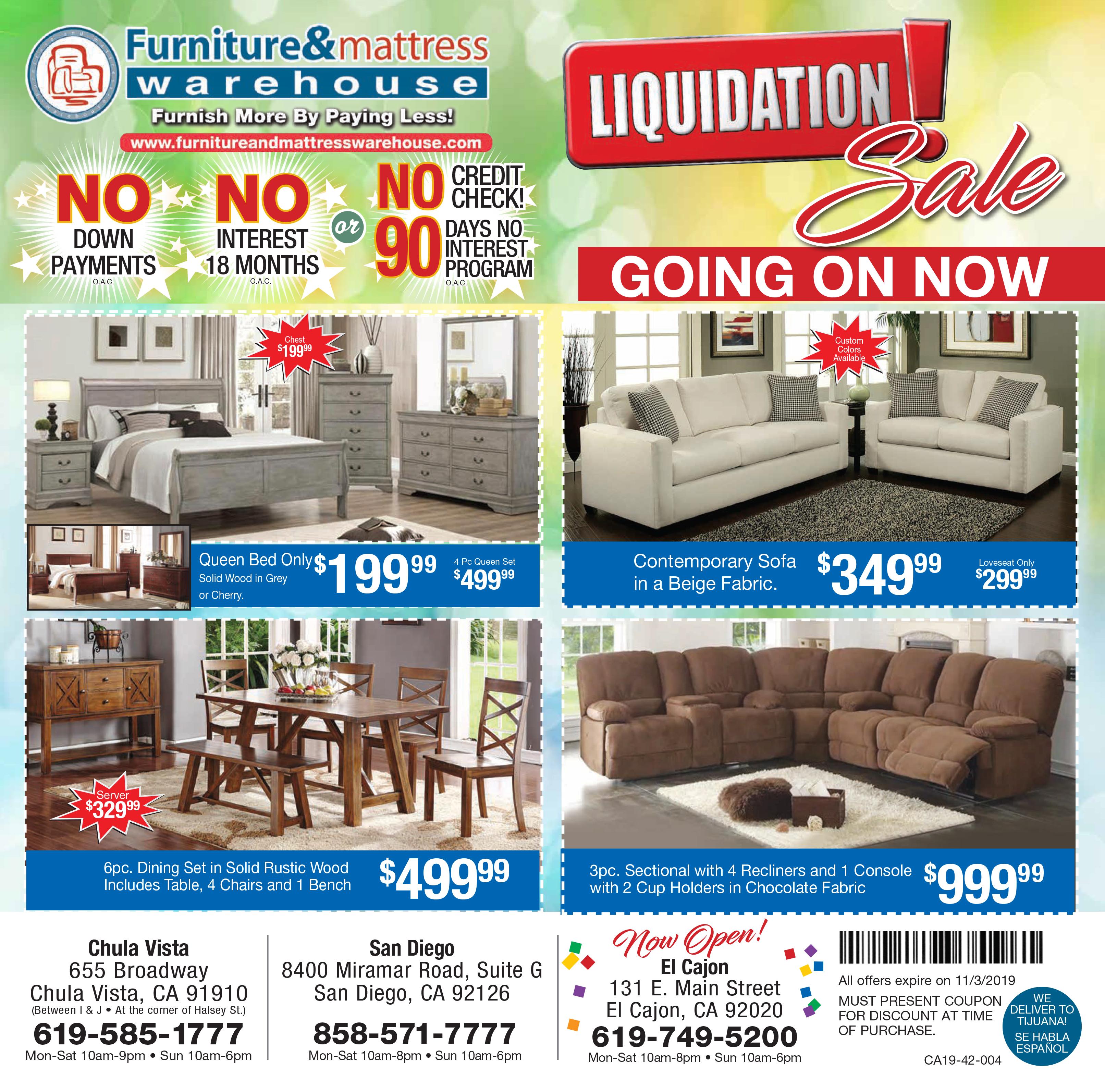 Liquidation Sale 2019