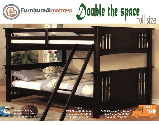 Miami II Full over Full Bunk Bed Esspresso