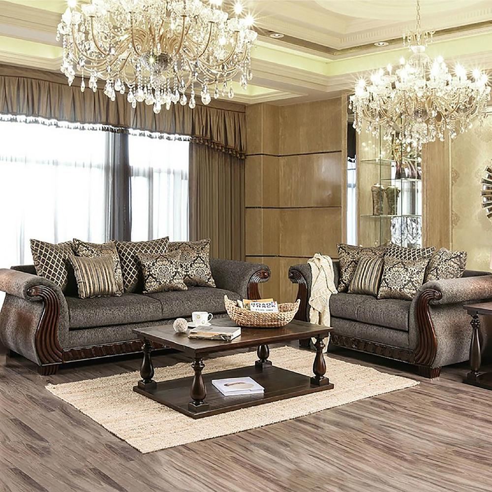 WEPOCE 2pc Sofa and Love Seat
