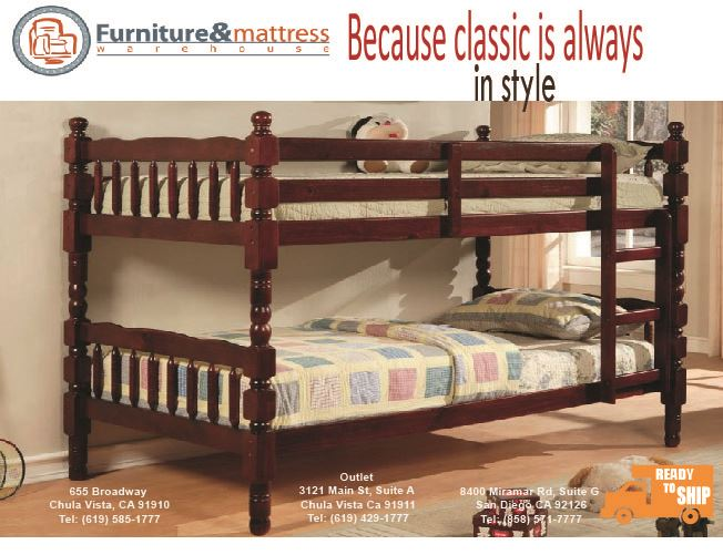 Catalina Twin Twin Bunk Bed Cherry