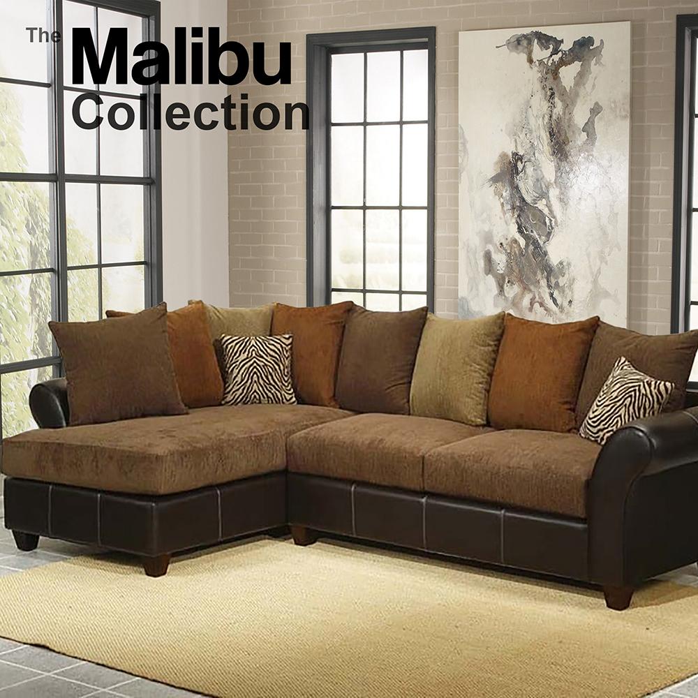 Malibu 2pc Sectional Sofa Chaise
