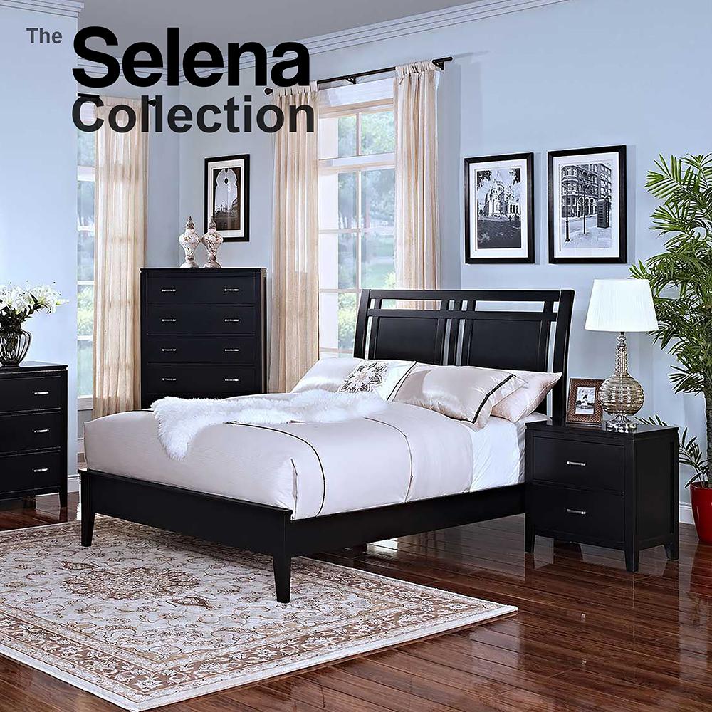 Selena Queen Bedroom Black