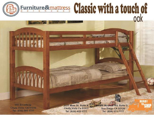 Matrix Twin Twin Bunk Bed Oak